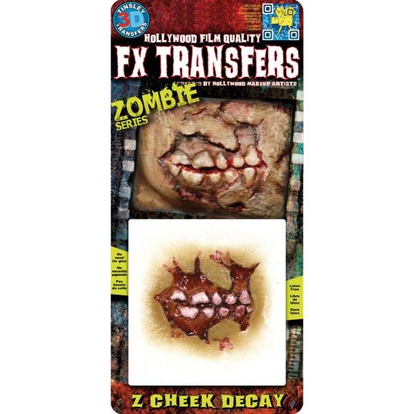 joue de zombie décomposée prothèse halloween