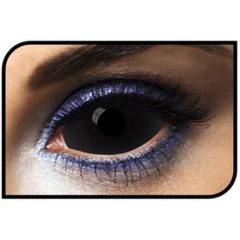 lentilles sclérales noires