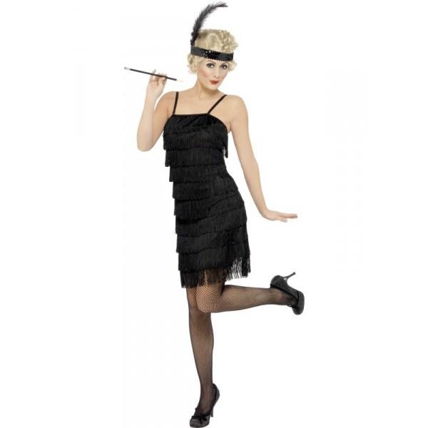 thème soirée déguisé charleston femme en noir