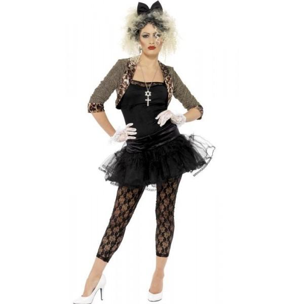 déguisement madonna noir glamour