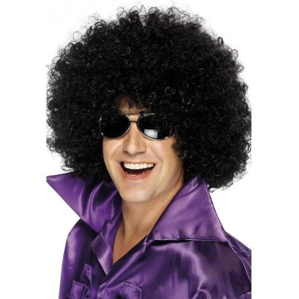 thème soirée déguisée perruque afro noire disco