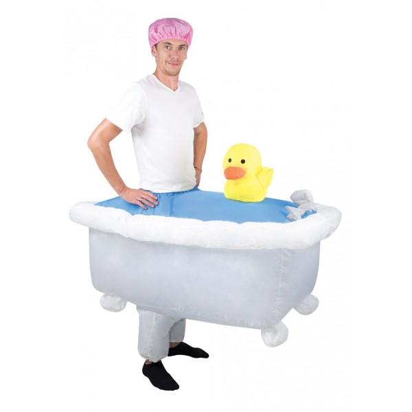 déguisement baignoire gonflable thème soirée déguisée drole