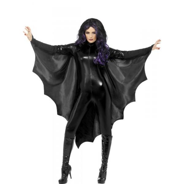 cape noire de chauve-souris déguisement halloween pas cher