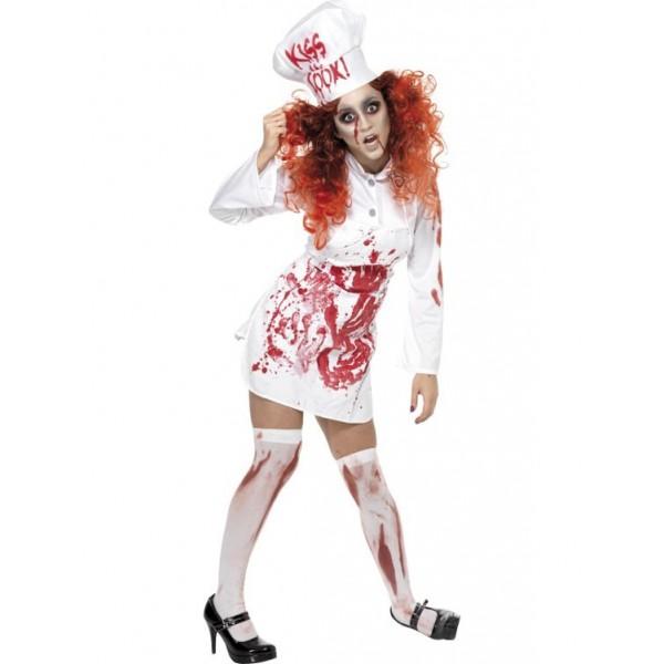 bouchère sanglante déguisement zombie