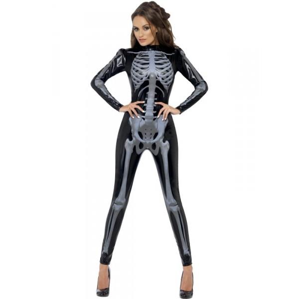 déguisement combinaison squelette femme halloween