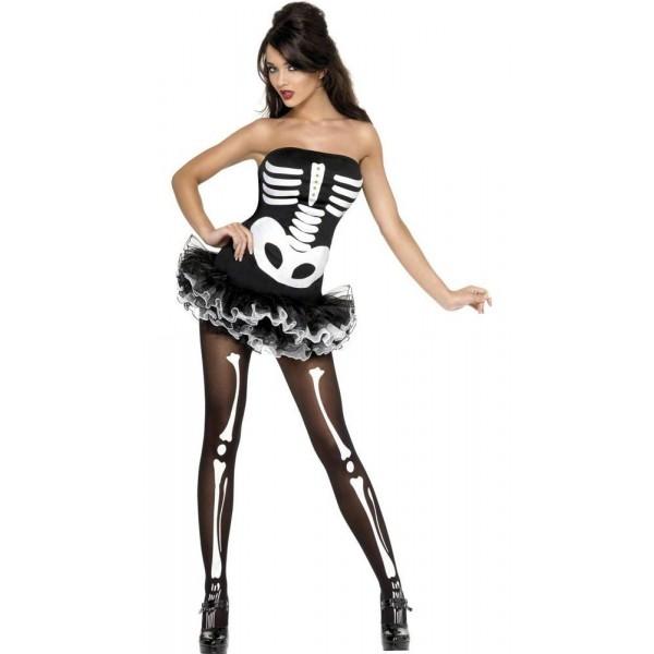 déguisement squelette femme sexy halloween