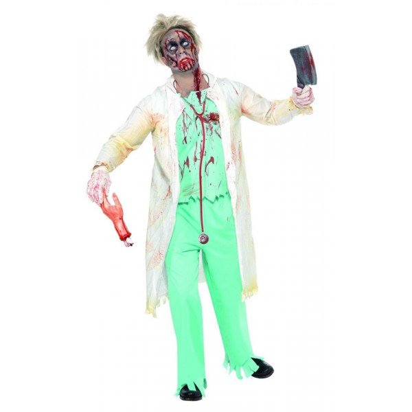 docteur déguisement halloween zombie