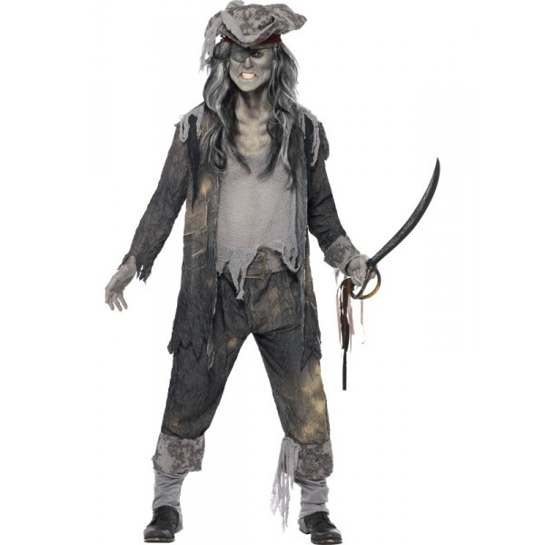 pirate homme déguisement halloween zombie