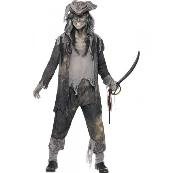 pirate homme déguisement halloween zombie