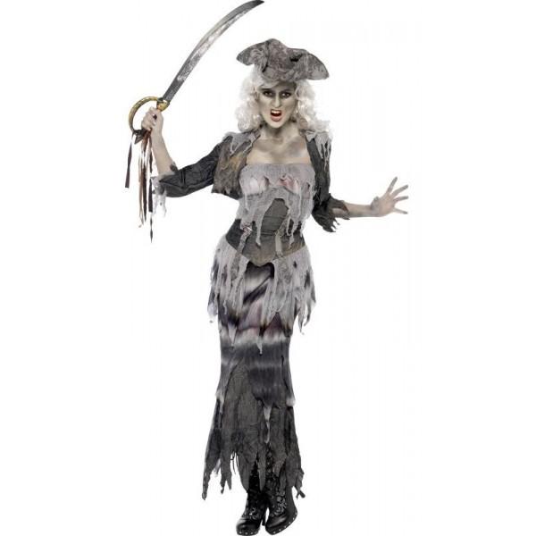 pirate femme déguisement halloween zombie