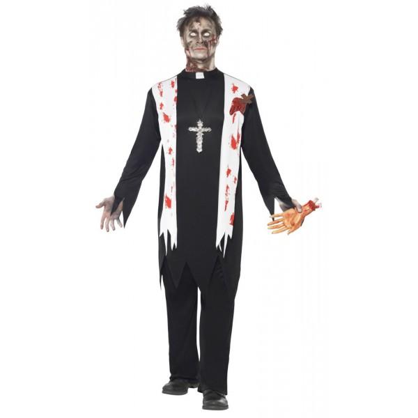 prêtre déguisement halloween zombie