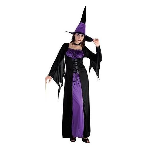 déguisement sorcière violette halloween