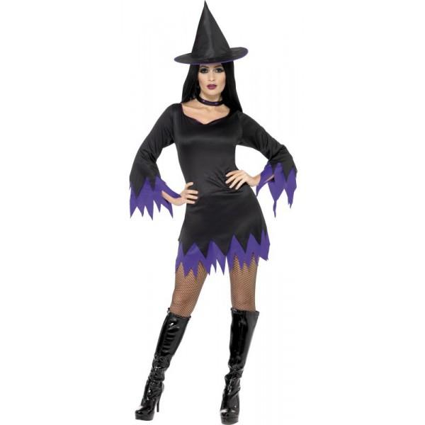 déguisement sorcière violette sexy halloween