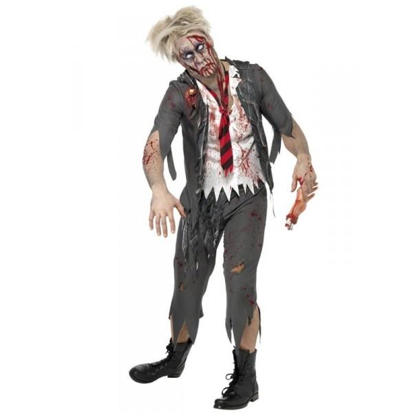 écolier déguisement halloween zombie