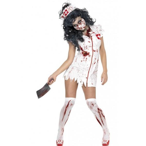infirmière déguisement zombie