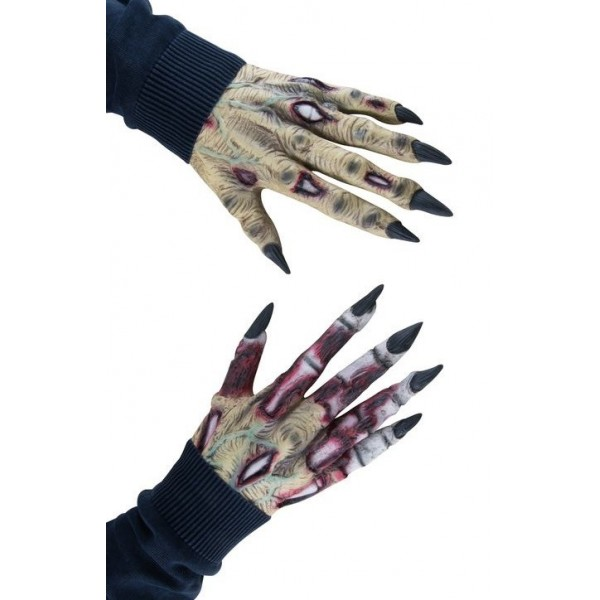 gants mains halloween zombie