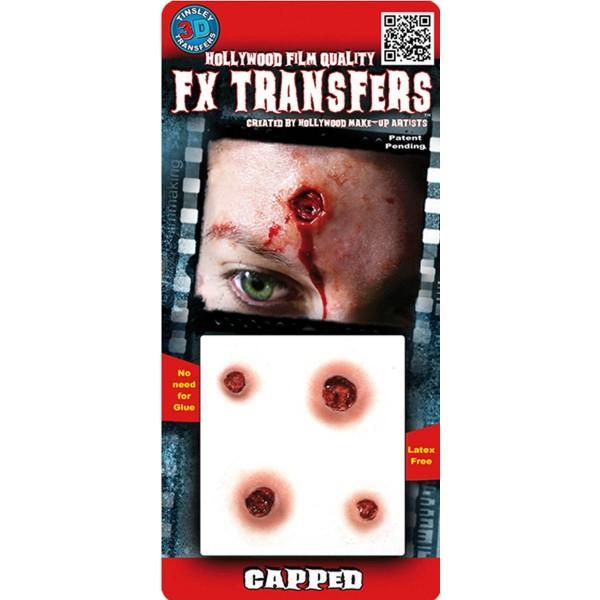 prothèse impacts de balles 3D FX maquillage Halloween