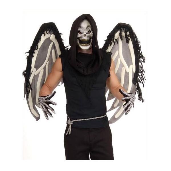 squelette ailé déguisement halloween pas cher