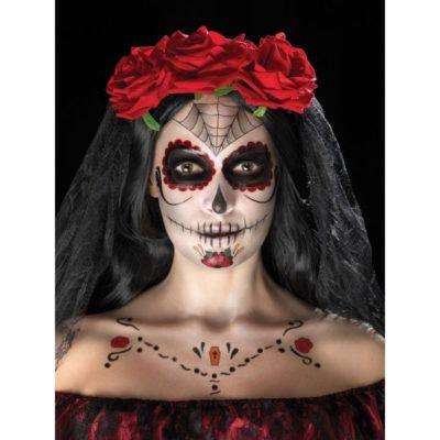 maquillage santa muerte halloween 2019