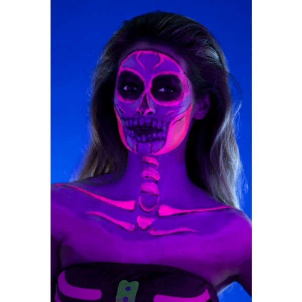 kit maquillage latex uv fluo squelette maquillage halloween femme
