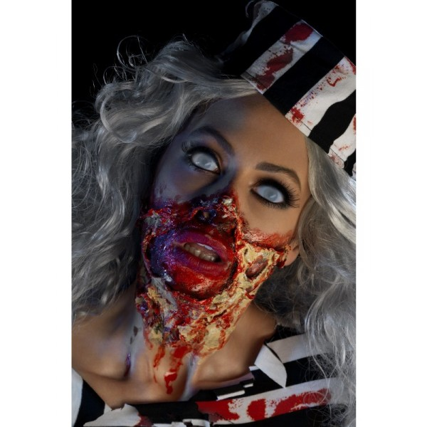 kit maquillage latex zombie femme halloween