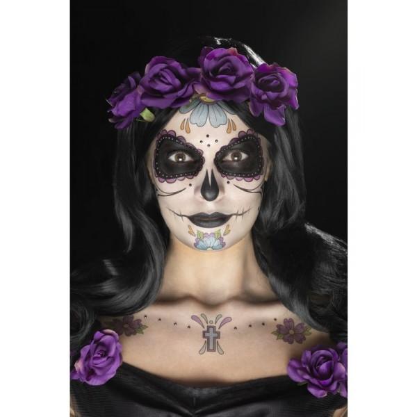 kit tatouage santa muerte halloween femme