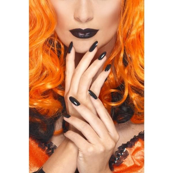 kit vernis et rouge à lèvres noir femme halloween