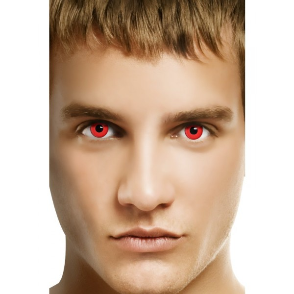 lentilles rouges accessoires halloween