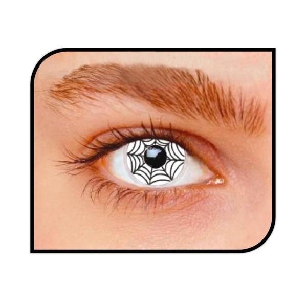 lentille toile d'araignée accessoires halloween