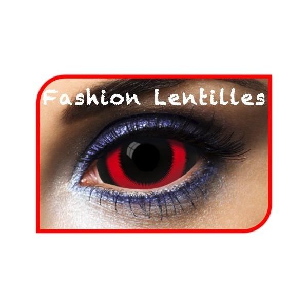 lentilles scléra rouges et noires