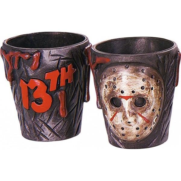 lot de 2 verres jason vendredi 13 halloween