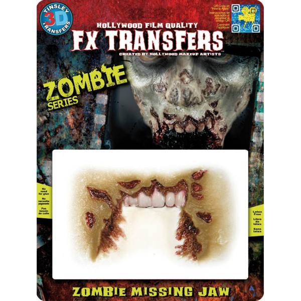 mâchoire arrachée zombie prothèse maquillage halloween