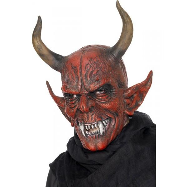 masque démon avec cornes halloween pas cher