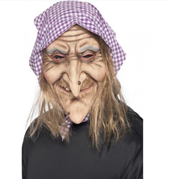 masque sorcière avec cheveux tenue chic détail choc