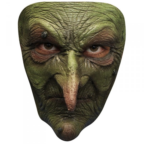 masque vieille sorcière verte