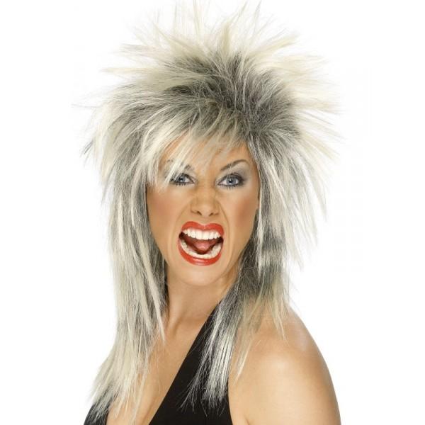 perruque diva du rock tenue chic détail choc