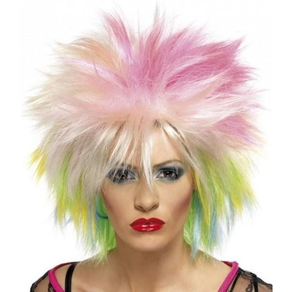 perruque multicolore tenue chic détail choc
