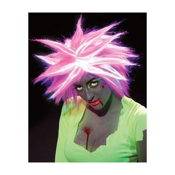 perruque zombie lumineuse tenue chic détail choc