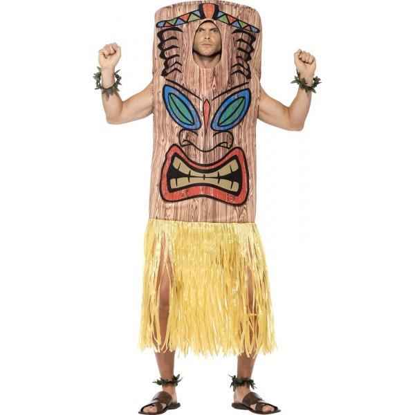 Déguisement thème soirée déguisée drole totem kiki homme hawaien