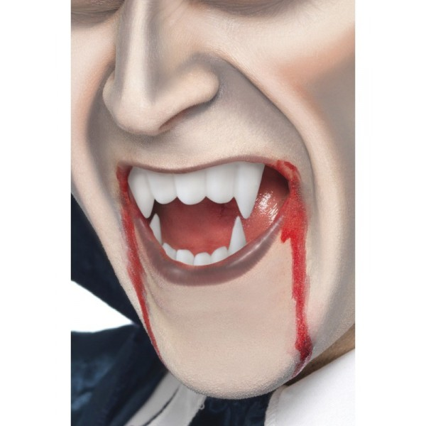 dents de vampire et tube de sang accessoire halloween