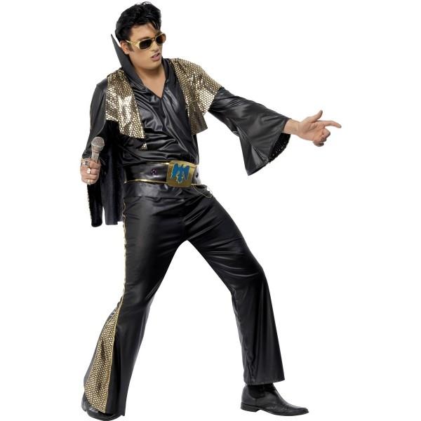 Déguisement noir Elvis Presley